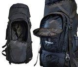 Beefree 80 Liter Backpack - Zwart | Inclusief regenhoes | Frontlader_
