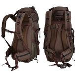 Beefree 70 Liter nylon Backpack   Inclusief regenhoes   Frontlader   Extra stevig   Bruin_
