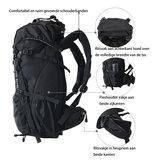 Beefree 55 Liter nylon Backpack | Inclusief regenhoes (updated 2020 model) - Grijs_