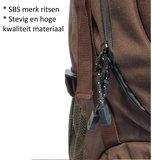 Beefree 70 Liter nylon Backpack   Inclusief regenhoes   Frontlader   Extra stevig   Groen_