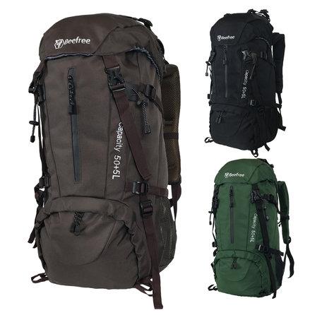 Beefree 55 Liter nylon Backpack | Inclusief regenhoes (updated 2020 model) - Bruin