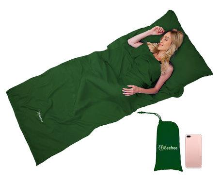 Beefree sheet bag | Summer sleeping bag | Thin sleeping bag | Liner | Green