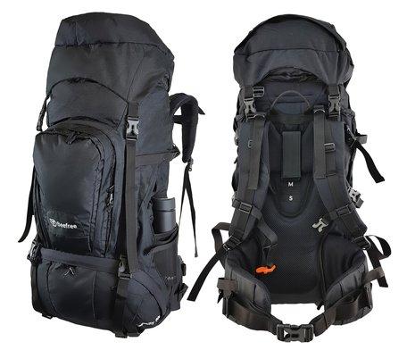 Beefree 80 Liter Backpack - Zwart | Inclusief regenhoes | Frontlader