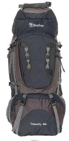 Beefree 80 Liter nylon Backpack - Zwart