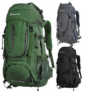 Beefree 70 Liter nylon Backpack   Inclusief regenhoes   Frontlader   Extra stevig   Groen