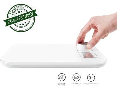 Beepower Digitale keukenweegschaal   GEEN batterij nodig   Multifunctionele weegschaal voor voedsel, Draagbaar   Zeer geschikt voor maaltijdbereiding