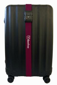 Beefree Kofferriem met TSA Cijferslot - Bagage Riem - Luggage Strap - Kofferband - Gesp - 200 cm - Wijnrood